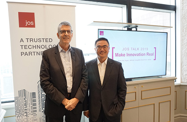 Mark Lunt, Group Managing Director, JOS and Eric Or, Managing Director, Greater China, JOS