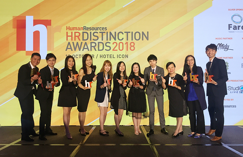 The JTH Group took home 12 awards at the prestigious awards ceremony for the Hong Kong HR Distinction Awards 2018, including two golds in Excellence in Talent Acquisition and Excellence in Innovative Use of HR Tech.